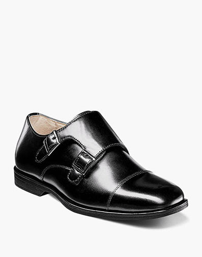 Reveal Jr. Cap Toe Monk Oxford in Black for $60.00