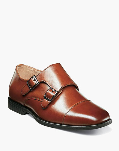 Reveal Jr. Cap Toe Monk Oxford in Cognac for $60.00