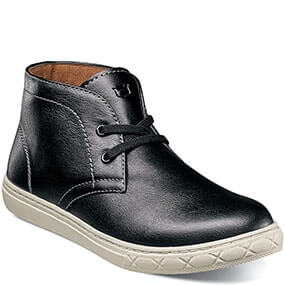 Curb Jr. Plain Toe Chukka Boot in Black for 59.95 dollars.
