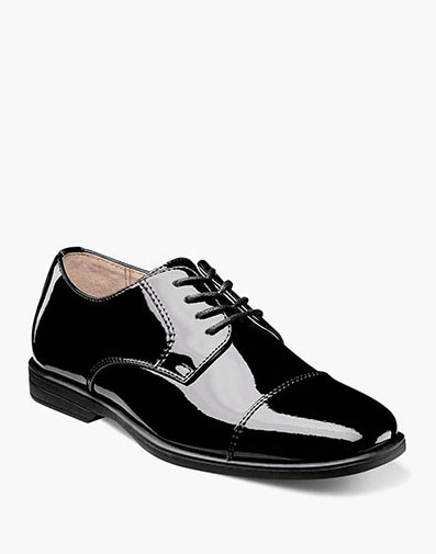 Reveal Jr. Cap Toe Oxford  in Black Patent for $60.00