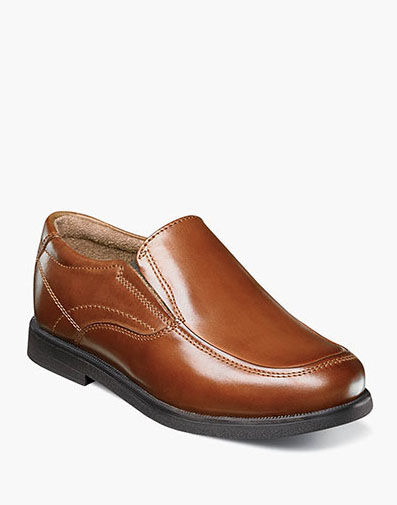 Midtown Jr. Moc Toe Slip On Loafer in Cognac for 59.95 dollars.
