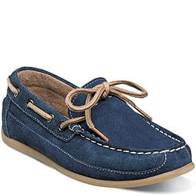Jasper Tie Jr. Moc Toe Slip On Loafer in Navy Suede for $55.00