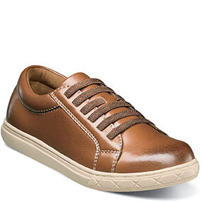 Curb Jr. Plain Toe Elastic Lace Oxford in Cognac for 55.00 dollars.