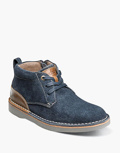 Navigator Jr. Plain Toe Chukka Boot in Navy Brown for $65.00