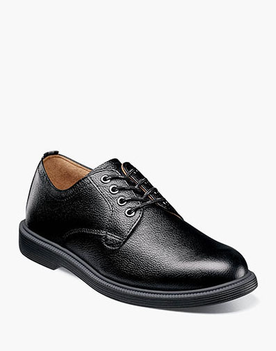 Supacush Jr. Plain Toe Oxford in Black Tumbled for 62.95 dollars.
