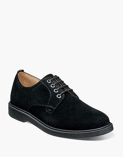 Supacush Jr. Plain Toe Oxford in Black Suede for 62.95 dollars.