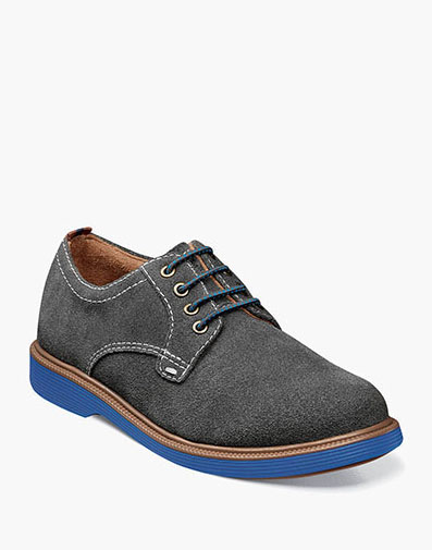 Supacush Jr. Plain Toe Oxford in Gray Suede for 62.95 dollars.