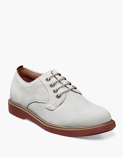 Supacush Jr. Plain Toe Oxford in White for 62.95 dollars.