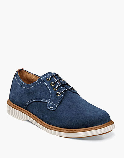 Supacush Jr. Plain Toe Oxford in Navy Suede for 62.95 dollars.