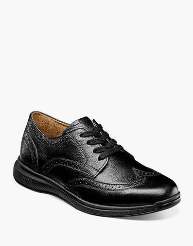 The featured product is the Great lakes Jr. II Wingtip oxford.