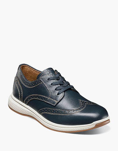 The featured product is the Great Lakes Jr. Wingtip Oxford.