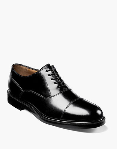 Dailey Cap Toe Oxford in Black for 125.00 dollars.