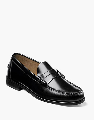 Berkley Moc Toe Penny Loafer in Black for 115.00 dollars.