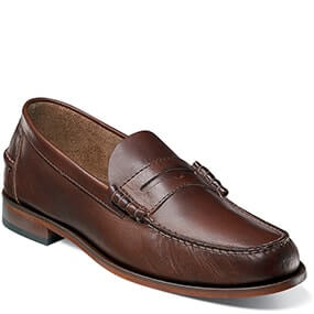 Berkley Moc Toe Penny Loafer in Brown CH for 49.90 dollars.
