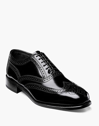 Lexington Wingtip Oxford in Black for 115.00 dollars.
