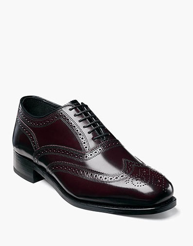 Lexington Wingtip Oxford in Burgundy for 115.00 dollars.