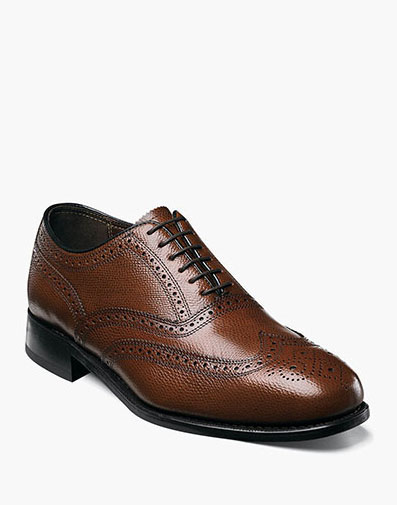 Lexington Wingtip Oxford in Cognac for $110.00