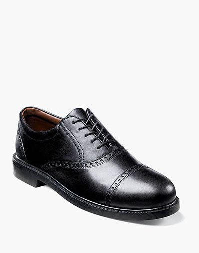 Noval Cap Toe Oxford in Black for 125.00 dollars.