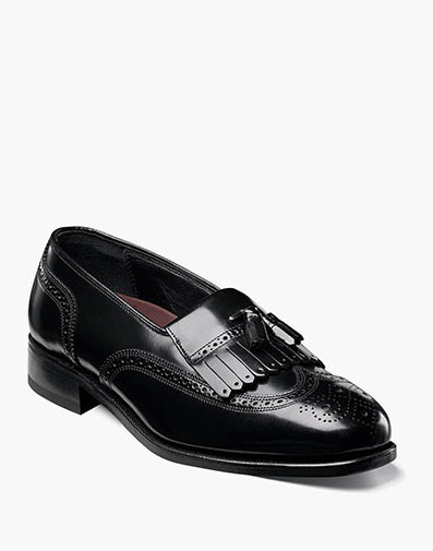 Lexington Wingtip Loafer in Black for 115.00 dollars.