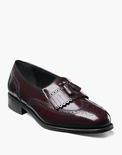 Lexington Wingtip Loafer in Burgundy for 115.00 dollars.