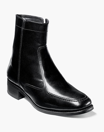 Essex Moc Toe Zipper Boot in Black for 135.00 dollars.