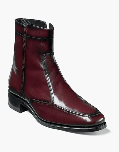 Essex Moc Toe Zipper Boot in Black Cherry for 135.00 dollars.