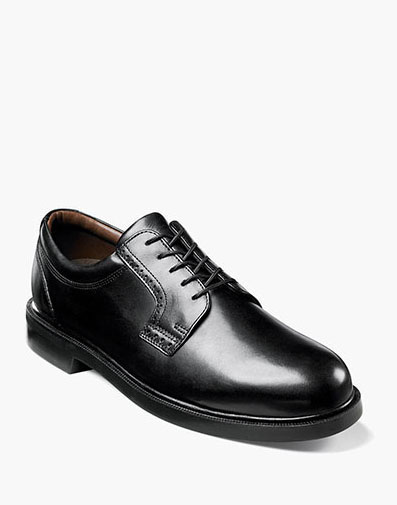 Noble  Plain Toe Oxford in Black for 125.00 dollars.