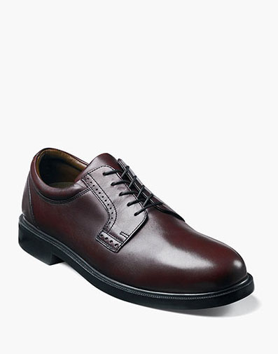 Noble  Plain Toe Oxford in Burgundy for 125.00 dollars.