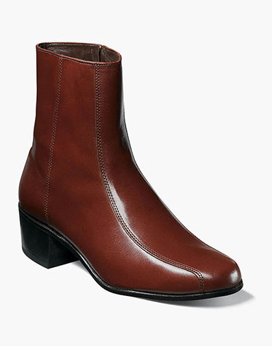 Duke Bike Toe Zipper Boot in Cognac for 140.00 dollars.