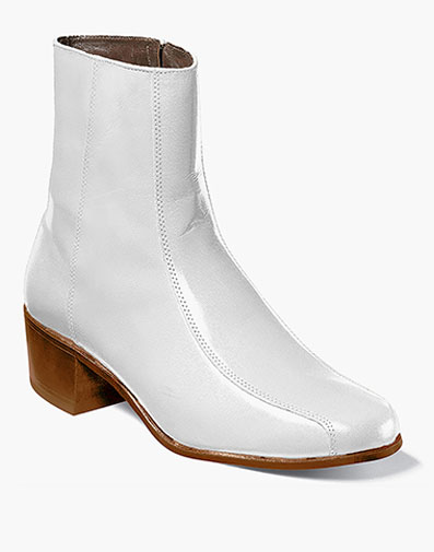Duke Bike Toe Zipper Boot in White for 140.00 dollars.