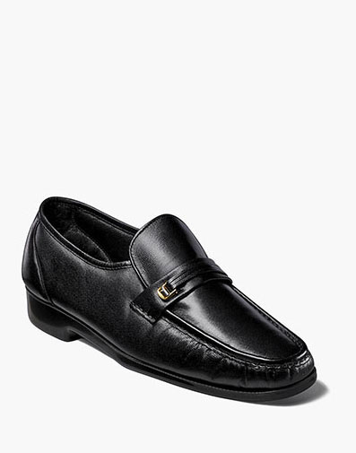 Riva Moc Toe Bit Loafer in Black for 125.00 dollars.