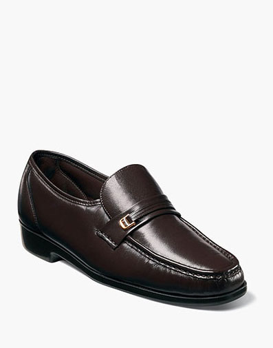 Riva Moc Toe Bit Loafer in Brown for 125.00 dollars.