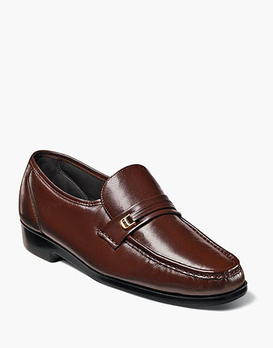 Riva Moc Toe Bit Loafer in Cognac for 125.00 dollars.