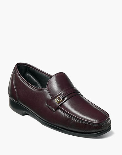 Riva Moc Toe Bit Loafer in Burgundy for 125.00 dollars.