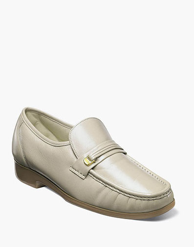 Riva Moc Toe Bit Loafer in Beige for 79.90 dollars.