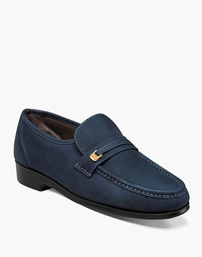 Riva Moc Toe Bit Loafer in Indigo for 79.90 dollars.