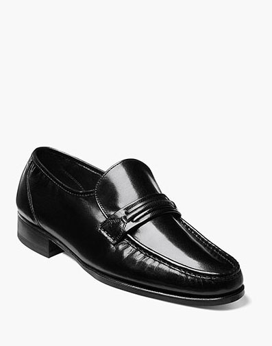Como Moc Toe Strap Loafer in Black for 115.00 dollars.