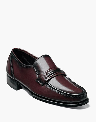 Como Moc Toe Strap Loafer in Black Cherry for 115.00 dollars.