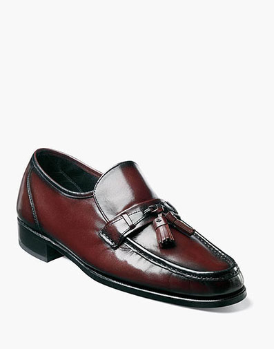 Como Moc Toe Tassel Loafer in Black Cherry for 110.00 dollars.