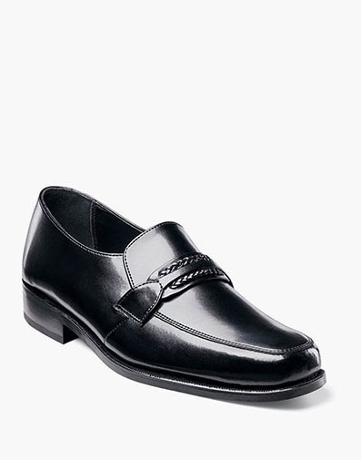 Richfield Moc Toe Strap Loafer in Black for 100.00 dollars.