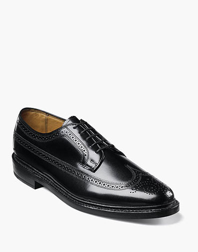 Kenmoor Wingtip Oxford in Black for 230.00 dollars.