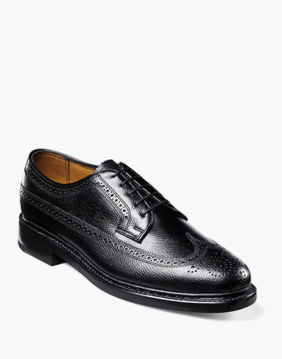 Kenmoor Wingtip Oxford in Black Tumbled for 230.00 dollars.