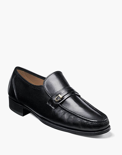 Como Moc Toe Bit Loafer in Black for 185.00 dollars.