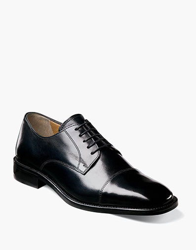 Lawrence  Cap Toe Oxford in Black for 160.00 dollars.