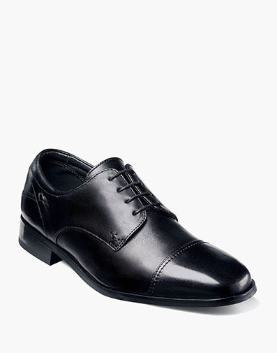 Welles Cap Toe Oxford in Black for 130.00 dollars.
