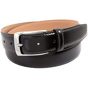 Guicciardi Genuine Italian Leather Belt in Black for 65.00 dollars.