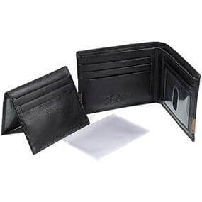 Bi-fold Wallet Black with Tan in Black Multi for $50.00