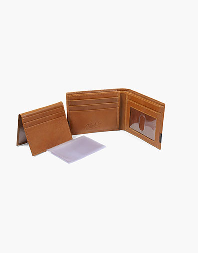 Bi-fold Wallet Cognac with Brown in Tan Multi for $50.00