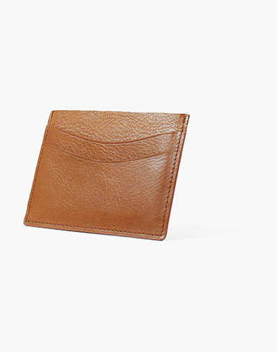 Card Holder Cognac in Tan for $40.00