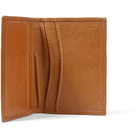 Bi-fold Card Holder Cognac in Tan for $50.00